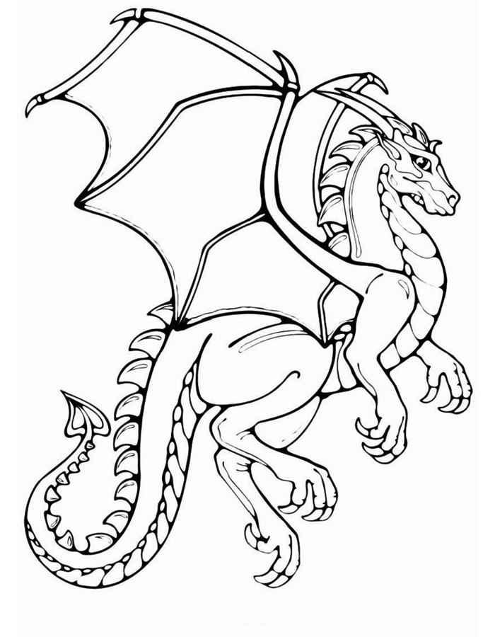 Раскраска для мальчиков дракон распечатать