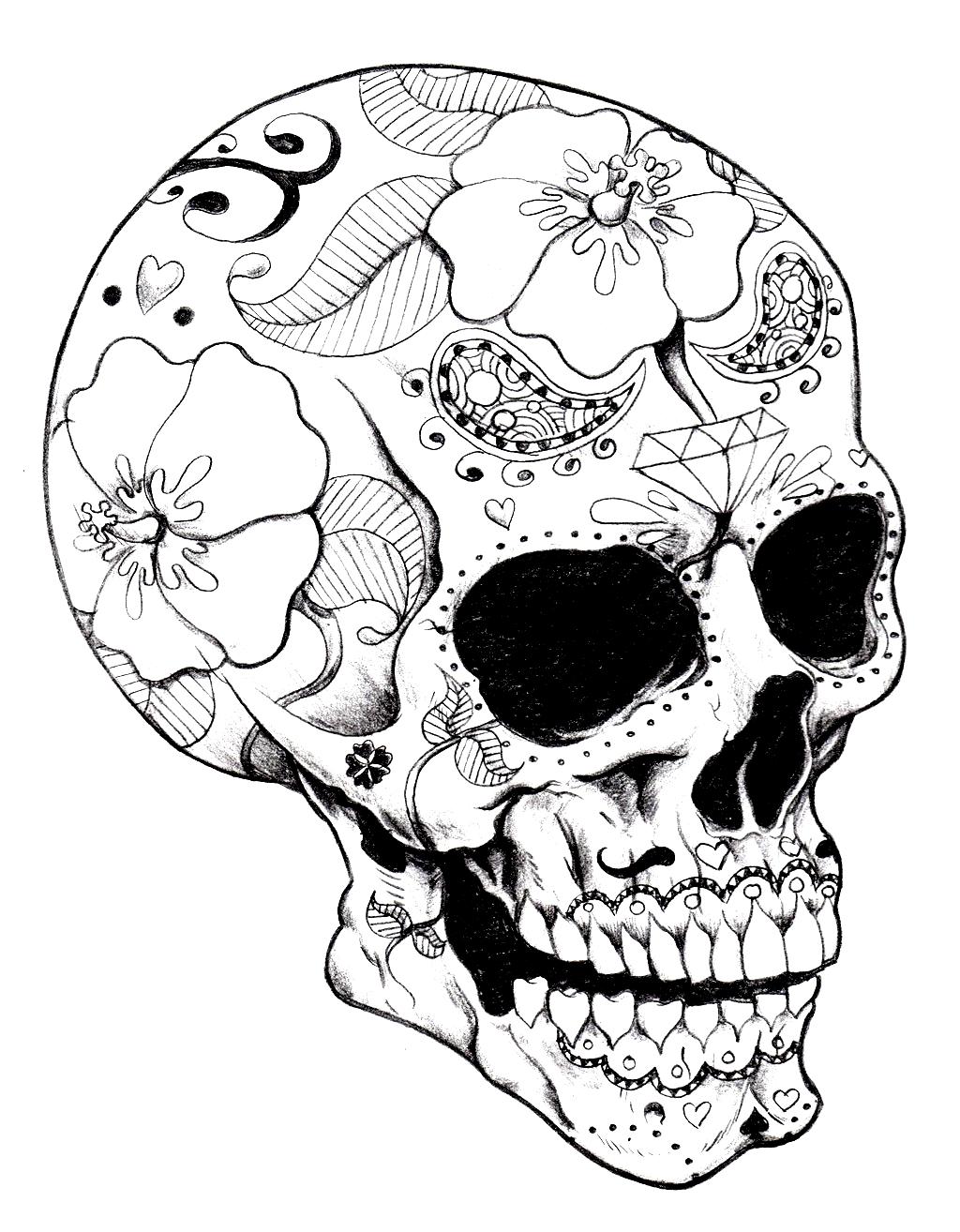 раскраска антистресс череп раскраски для детей и взрослых